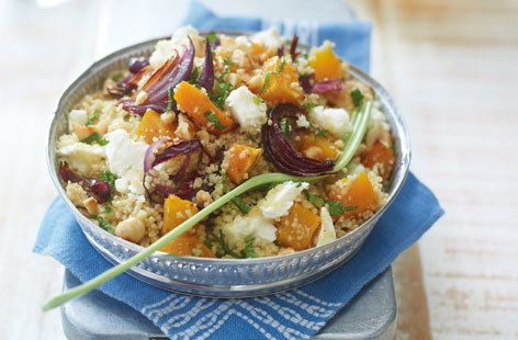 Couscous with Moroccan-Roasted Butternut Squash